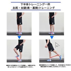 ゴムバンド ゴムチューブ エクササイズバンド トレーニングチューブ フィットネスチューブ 強度別 5本セット インナーマッスル 体幹  ラバー menstrend 06