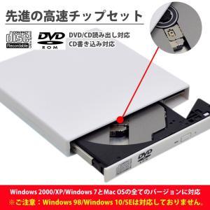 dvdドライブ 外付けUSB2.0外付けポータブルCD-RW DVD-Rドライブ ディスク Windows/Mac OS対応 外付け Windows mac 外付け dvdドライブ 書き込み|menstrend|06