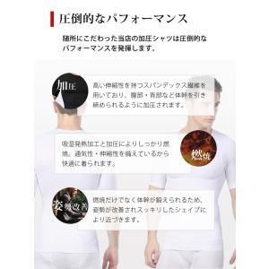 加圧Tシャツ 加圧シャツ 着圧インナー メンズ エクササイズ スポーツインナー 猫背矯正 矯正下着|menstrend|05