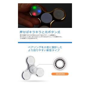 ハンドスピナー Hand spinner 光る LED搭載 指スピナー 三角 指遊び 指のこま ストレス解消  金属  おもちゃ|menstrend|05