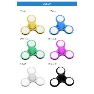 ハンドスピナー Hand spinner 光る LED搭載 指スピナー 三角 指遊び 指のこま ストレス解消  金属  おもちゃ|menstrend|06