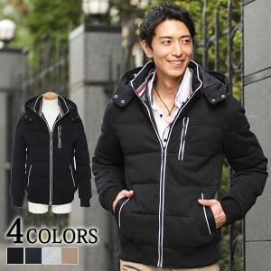 送料無料 アウター メンズ 中綿 ジャケット トリコロールデザインパイピング中綿ジャケット menz-style