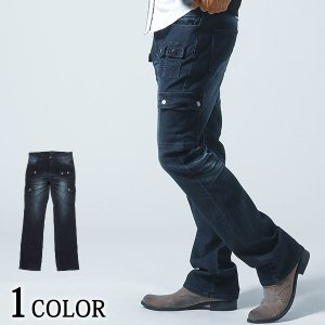 カーゴパンツ メンズ パンツ デニム ストレッチ ロングパンツ 春 夏 秋 冬 服 30代 40代 50代|menz-style