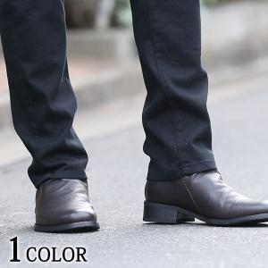 ブーツ シューズ メンズ ドレスブーツ ドレープ バックジップ PU レザー 合皮 合成皮革 靴 シンプル 30代 40代 50代|menz-style