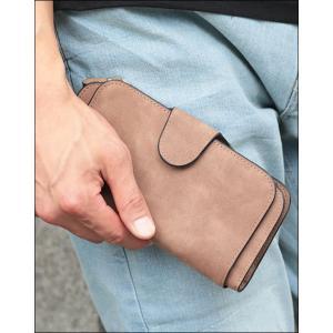 財布 メンズ 長財布 ウォレット シンプル ラウンドファスナーレザー調 ロングウォレット menz-style