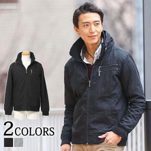 ブルゾン メンズ アウター ジャケット 長袖 ダブルジップデザインボリュームネックジャケット menz-style