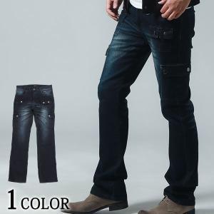 デニムパンツ メンズ カーゴパンツ ボトムス パンツ ストレッチ ジーンズ 細身 スリム 服 30代 40代 50代|menz-style