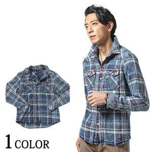 デニムシャツ メンズ チェックシャツ シャツ 長袖  春 秋 冬 服 ファッション 30代 40代 50代 menz-style