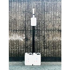 足踏み式消毒液スタンド+銀イオンミスト詰め替え2L2個セット|mer-mori