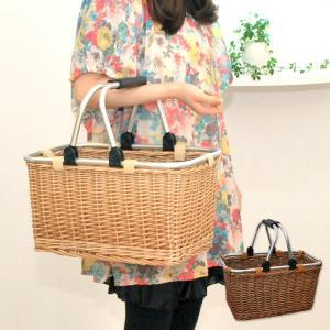 ピクニックバスケット マルシェかごバッグ 内布なし (買い物かご おしゃれ)|mercadomercado