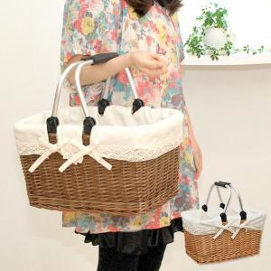 ピクニックバスケット マルシェかごバッグ 内布あり (買い物かご おしゃれ)|mercadomercado