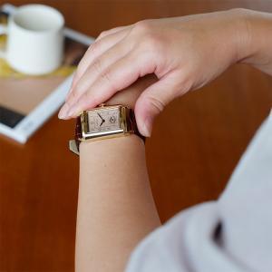 CIRCA 腕時計 レクタンギュラー型ウォッチ ゴールド クオーツ 生活防水 CT102T|mercato-y