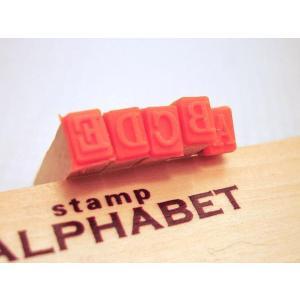 ALPHABET Stamp ウッドボックス アルファベット スタンプ S <br>【 英文字 英語 スタンプセット 木製 ゴム印 小さめ 】|mercato-y