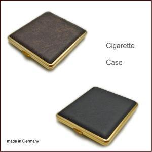 革張りシガレットケース made in Germany BLACK BROWN 【YDKG-tk】|mercato-y
