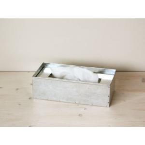 ★fog linen works ティッシュボックス(フォグリネンワークス) (ブリキ)|mercato-y