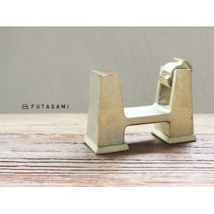 FUTAGAMI フタガミ 真鍮製 テープカッター 鋳肌 小 ゴールド テープ台|mercato-y