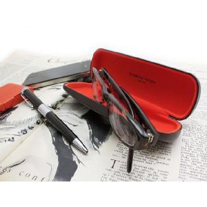 ☆(GIORGIO FEDON) ジョルジオフェドン メガネケース お洒落なエコレザー(ハード/眼鏡ケース/革) mercato-y