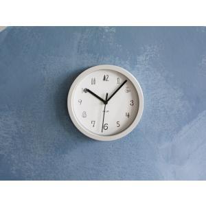 松尾ミユキ イラスト Wall Clock 壁掛け時計 Sサイズ ホワイト グレー ブラック|mercato-y
