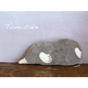 ☆(tomotake) トモタケ 動物クッション モグラ(泥染め/ぬいぐるみ/ハンドメイド) (送料無料)|mercato-y