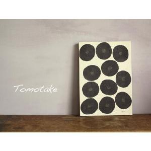 ☆(tomotake) トモタケ テキスタイルパネル アンパン(泥染め/B4パネル/ハンドメイド) (送料無料)|mercato-y