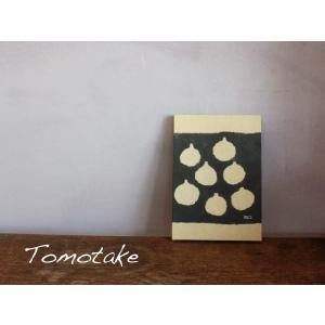 ☆(tomotake) トモタケ テキスタイルパネル figs(泥染め/B5パネル/ハンドメイド)|mercato-y