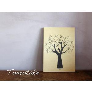 tomotake トモタケ テキスタイルパネル ファブリックパネル 木 ツリー インテリア 壁掛け|mercato-y