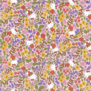 ハローキティ×リバティアートファブリック<Strawberry Field>(ストロベリーフィールド...