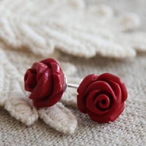 コーラル サンゴ 赤 ローズ ピアス イヤリング 珊瑚 さんご 薔薇 バラ ばら メール便対応 女性 レディース|merci-j