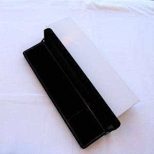 ネックレスケース(太幅) ブラック 黒 外箱付き あすつく対応 プレゼント ラッピング ギフト 贈り物 贈答用 梱包用品 保管用 ケース|merci-j