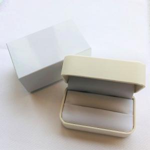 ブライダルケース ペアリングケース  結婚指輪ケース リングケース ホワイト 白 外箱付き あすつく対応 プレゼント ラッピング 贈答用 梱包用品 保管用 ケース|merci-j