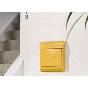 旗あり ポスト 郵便受け エンボスあり アートワークスタジオ  U.S. Mail box 2 ユーエスメールボックス2|merci-p