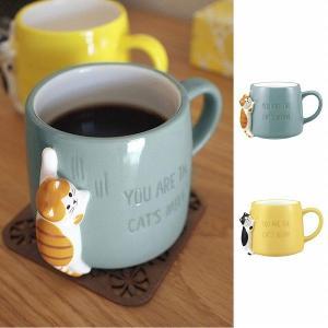 マグカップ つめとぎマグ  トラ猫 ハチワレ デコレ DECOLE HAPPY cat day ハッ...