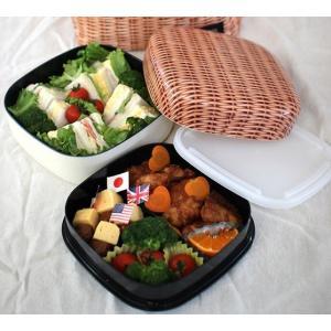 PANIE ファミリーランチボックス パニエ 日本製 SFVG1708 お弁当箱 運動会 ランチボックス 2段 重箱 ピクニック 2段重 ファミリー 大容量(送料無料) merci-p