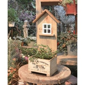 アンティーク風 ハウスボックスプランター ガーデン雑貨 ナチュラルガーデン AZ-1147 merci-p