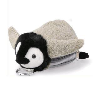 パスポーチ ヒナペンギン ペンギン ぺんぎん リール付き かわいい おしゃれ パスケース 定期入れ ぬいぐるみ デコレーション 定期券 デンシマネー merci-p