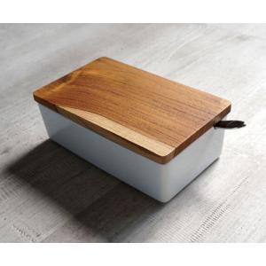 【B STYLE KITCHEN】 木蓋 バターケース 200 ナチュラル 日本製 バターケース バター入れ かわいい シンプル 陶器 ロロ LOLO バターボックス merci-p