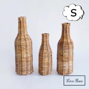 フラワーベース ボトル Sサイズ アラログ ガラス Horn Please 志成販売 423122 フラワーベース 木 花 フラワー フラワーグラス 花瓶 ガラス|merci-p