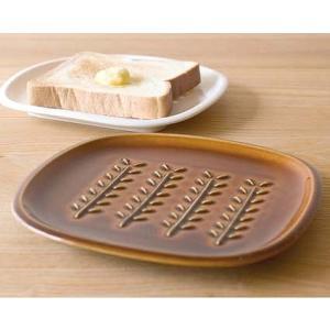 トウジキトンヤ TOJIKI TONYA トーストプレート アメ ホワイト パンメゾン ブレッドトレイ 中皿 パン皿  食器 キッチン かわいい おしゃれ merci-p