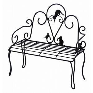 Abeille ディスプレイベンチ ネコ ガーデン雑貨 ナチュラルガーデン|merci-p