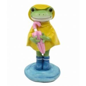 コポー レインコートのカエル 置物 小物 オブジェ カエル 置き物  蛙 フロッグ FROG 70550|merci-p