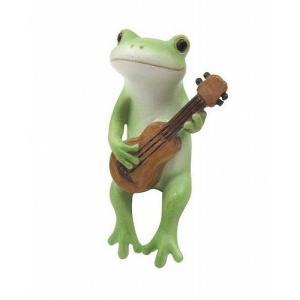 コポー ウクレレを弾くカエル 置物 小物 オブジェ カエル...