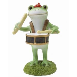 コポー 鼓笛隊太鼓のカエル 置物 小物 オブジェ カエル...
