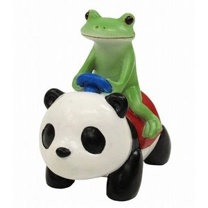 コポー パンダカーにのるコポタロウ 置物 小物 オブジェ カエル パンダ