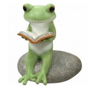 コポー ガーデン 石の上で読書 ガーデン ガーデニング 置物 小物 オブジェ カエル