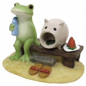 コポー 縁側でひと息 71397 Copeau 小物 オブジェ カエル 置き物 置物 オブジェ 蛙 フロッグ FROG ガーデン雑貨 インテリア雑貨 小物 マスコット ミニチュア|merci-p