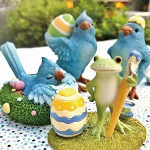 Copeau コポー イースター 卵帽子を被った鳥 雑貨 小物 オブジェ カエル 置き物 置物 オブジェ 小鳥 ことり コトリ 鳥 とり トリ 71458 merci-p 02