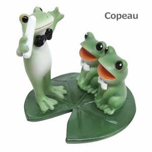 コポー カエルの合唱 72229 Copeau 梅雨 雑貨 置き物 置物 オブジェ ガーデン雑貨 インテリア雑貨 小物 マスコット ミニチュア かえる カエル フロッグ frog|merci-p