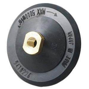 125mm径 ポリッシャー用 面ファスナーパット/ラバーパッド 取付:M16ネジ マジック(ファスナー)式 湿式研磨|merciteam