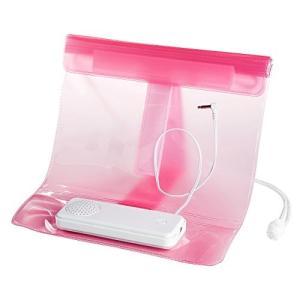 ・お風呂やキッチンなどでスマートフォンを楽しむことができる防水ケース付きスピーカーお風呂やキッチンな...