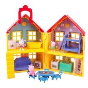ペッパピッグ プレイハウス セット 人形付き Peppa Pig Peppa's Deluxe Ho...